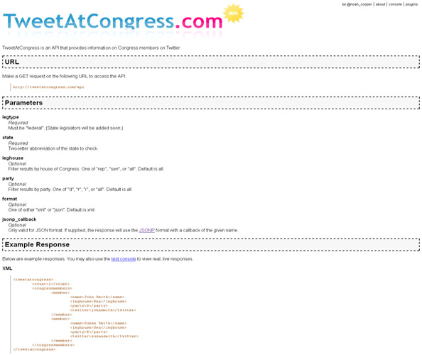 TweetAtCongress.com: Find Congress Members on Twitter